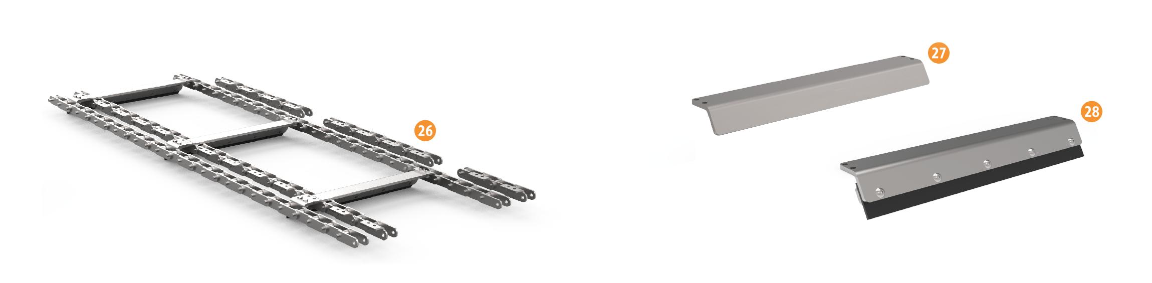 Chip Conveyor Spare Parts - Belt Assemblies & Kits   Hennig Inc